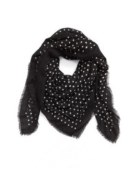 Saint Laurent Lipstick Spots Square Wool Scarf