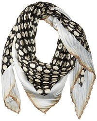 Vince Camuto Military Dot Pleated Square Scarf Scarves