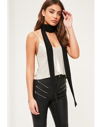 Missguided Black Slinky Skinny Scarf