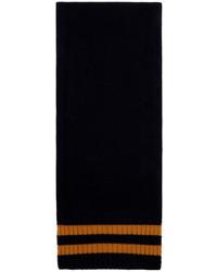 Maison Margiela Navy Orange Wool Stripes Scarf