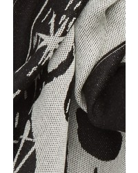 Alexander McQueen Oversize Skull Jacquard Wool Scarf