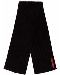 Prada Sport Rib Knit Logo Scarf