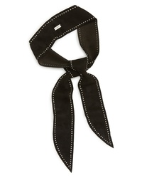 Saint Laurent Studded Leather Skinny Scarf