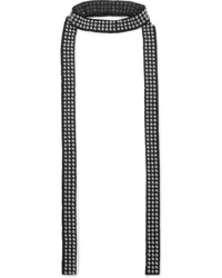 Saint Laurent Studded Suede Scarf