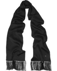 Saint Laurent Tasseled Silk Satin Scarf