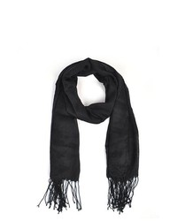 TheDapperTie Black 100% Viscose Scarf Ls4370