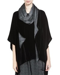 Eileen Fisher Washable Velvet Scarf Black