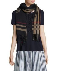Max Mara Weekend Lison Gingko Virgin Wool Scarf