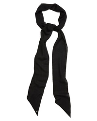 Saint Laurent X Long Lavalliere Skinny Wool Scarf