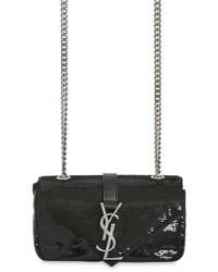 Saint Laurent Monogram Slouchy Sequins Leather Bag