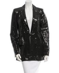 Chanel Sequined Peaked Lapel Blazer