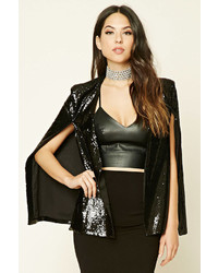 Forever 21 Sequined Cape Blazer