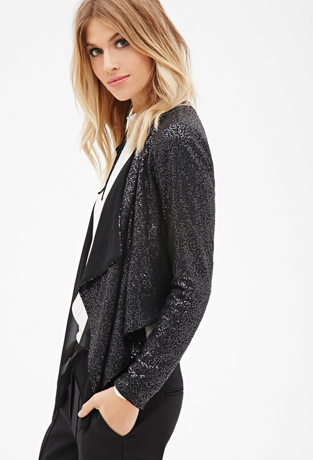 Black Sequin Jacket Forever 21 Sequin Blazer Forever 21