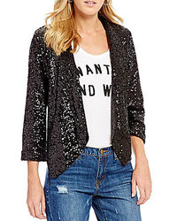 GB Sequin Open Front Blazer