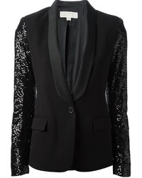 MICHAEL Michael Kors Michl Michl Kors Sequined Sleeve Tuxedo Blazer