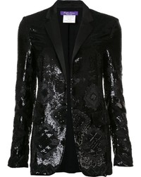 Ralph lauren geometric sequined pattern blazer medium 1054728