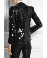 e5386703e45 Saint Laurent Sequined Tuxedo Jacket, $6,950 | NET-A-PORTER.COM ...
