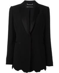 Versace Angular Sequin Hem Blazer