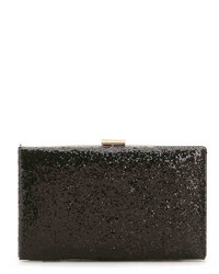 Chunky Sparkle Clutch  Black