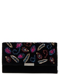 Sequin velvet clutch black medium 5254674