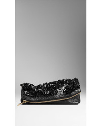 Burberry The Petal In Leather With Crushed Sequins