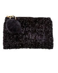 Twos Company Twos Company Sequined Clutch