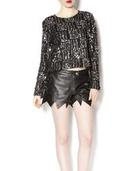 Black sequin sweater medium 440056
