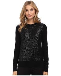 New york fluffy wool sequin sweater medium 440058