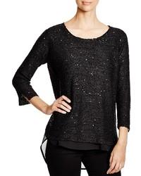 Sioni mixed media sequin sweater medium 440053