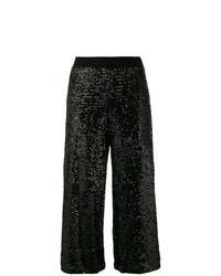Black Sequin Culottes
