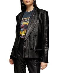 Topshop Sequin Blazer