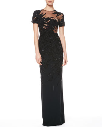 be680f54f Jason Wu Sequined Combo Botanical Gown, $9,790 | Neiman Marcus ...