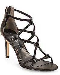 Gemma embellished leather caged sandals medium 128421