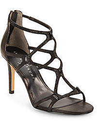 Ivanka Trump Gemma Embellished Leather Caged Sandals