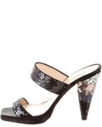 Prada Sequin Slide Sandals