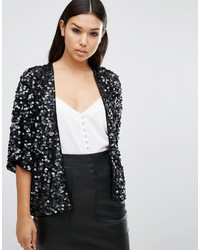 Asos Jacket In Disc Sequin Embellisht