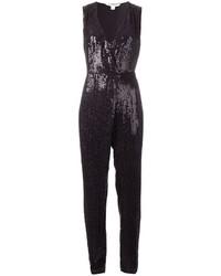 Diane von Furstenberg Sequined Wrap Jumpsuit