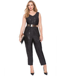 Eloquii Plus Size Studio Sequin Jumpsuit Where To Buy How To Wear