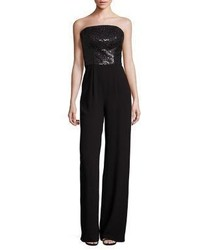 St. John Sequin Satin Back Crepe Jumpsuit