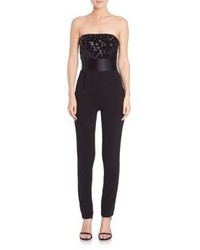 Badgley Mischka Sequin Top Jumpsuit