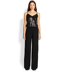 Ella Moss Sequined Top Wide Leg Jumpsuit