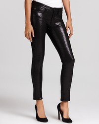 AG Jeans Ag Ankle Legging Sequin Pants