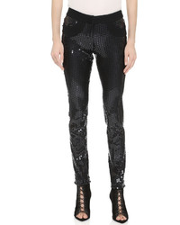 Collection sequined skinny pants medium 383705