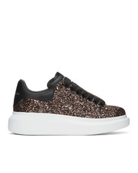 Alexander McQueen Black And Red Galaxy Glitter Oversized Sneakers