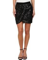BCBGMAXAZRIA Joanne Sequin Wrap Skirt