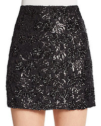 Saks fifth avenue red sequined mini skirt medium 136729