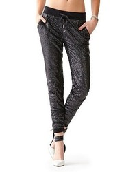 Guess kate sequin jogger pants medium 122626