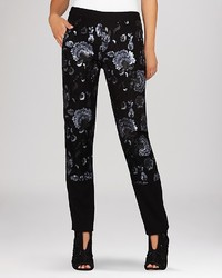 BCBGMAXAZRIA Pants Chenille Sequin Panel