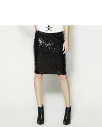 BELLE + SKY Sequin Pencil Skirt