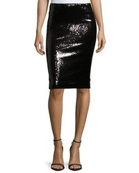 Donna Karan Sequined Pencil Skirt Black